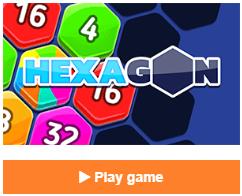 Hexagon free online puzzle game