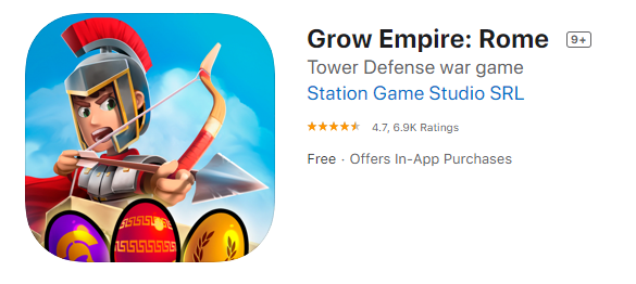 Best Strategy Games for iPhone - Grow Empire Rome